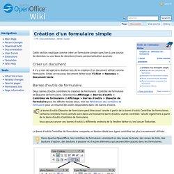 Création d'un formulaire simple — Apache OpenOffice Wiki