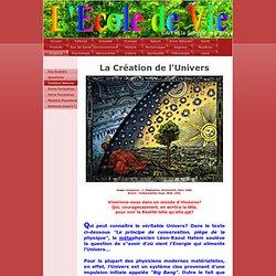 Création Univers - L'Ecole de Vie