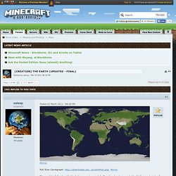 [Creation] The Earth (Map v1.0) - Minecraft Forums