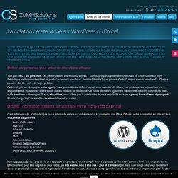 Création de site vitrine sur Wordpress ou Drupal