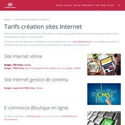 Tarifs - WebKrea - Création site Internet Brabant WallonWebKrea – Création site Internet Brabant Wallon