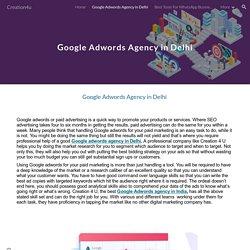 Google Adwords Agency in Delhi