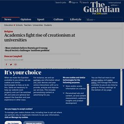 Academics fight rise of creationism at universities | World news