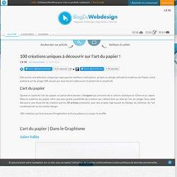 100 créations art du papier-BlogDuWebdesign -F