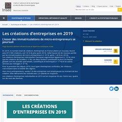 Les créations d'entreprises en 2019 - Insee Première - 1790