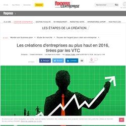 Les créations d'entreprises au plus haut en 2016, tirées par les VTC