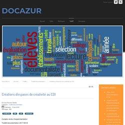 Créations d'espaces de créativité au CDI