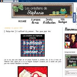 Les créations de Stéphanie: [ Rallye-lien ] Il suffisait d'y penser... Des yeux pour lire