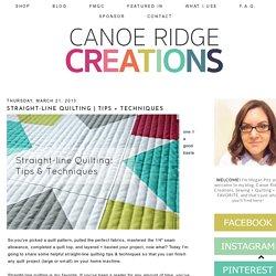 Canoe Ridge Creations: Straight-line Quilting