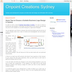 Onpoint Creations Sydney: Quick Tips to Choose a Suitable Business Logo Design in Sydney