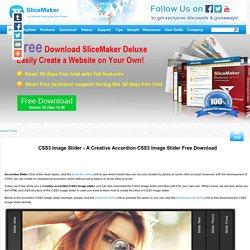CSS3 Image Slider - A Creative Accordion CSS3 Image Slider Free Download - slicemaker