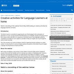 Creative activities for Language Learners at home