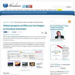 Yahoo! propose un filtre sur les images en Creative Commons - Ab