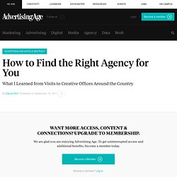 How to Find the Right Creative Agency to Work For | Small Agency Diary