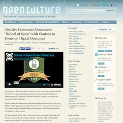 "Creative Commons Announces ""School of Open"" with Courses to Focus on Digital Openness"