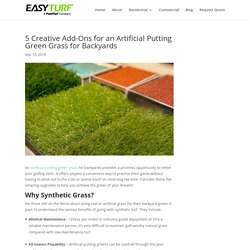5 Creative Upgrades for an Artificial Putting Green Grass for Backyards