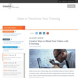 Creative Ways to Blend Your Videos with E-learning