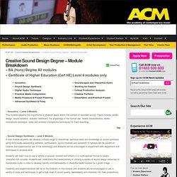 Creative Sound Design Course Breakdown