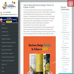 Top Creative Brochure Design Trends To Follow in 2020