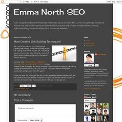 Emma North SEO: More Creative Link Building Techniques!