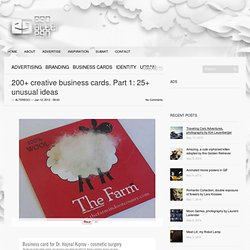 200+ creative business cards. Part 1: 25+ unusual ideas