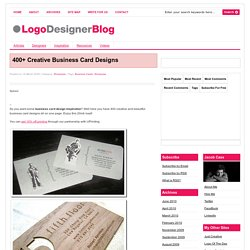 400+ Creative Business Card Design Inspiration