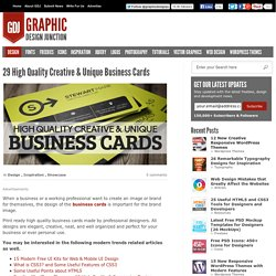 29 High Quality Creative & Unique Business Cards