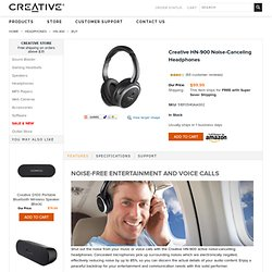 HN-900 Noise-Canceling Headphones (Black) | Creative Labs Online Store