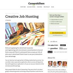 Creative Job Hunting