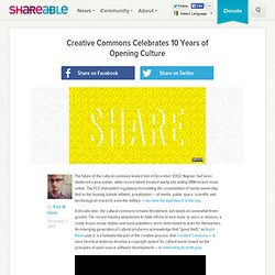 Creative Commons Celebrates 10 Years of Opening Culture