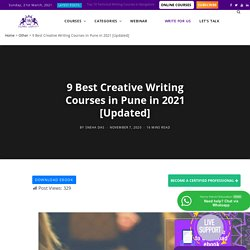 Best Creative Writing Certifications in Pune