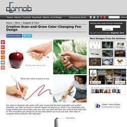 Creative Scan-and-Draw Color-Changing Pen Design