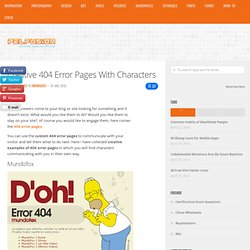 Creative 404 Error Pages With Characters | Showcases | PelFusion