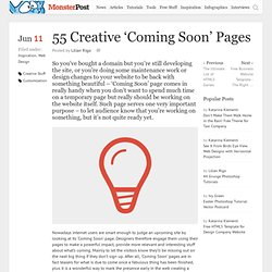 55 Creative 'Coming Soon' Pages