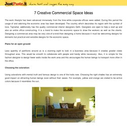 7 Creative Commercial Space Ideas