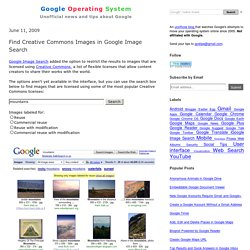 Find Creative Commons Images in Google Image Search