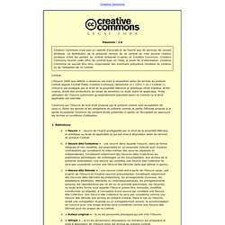 Creative Commons Code juridique