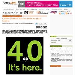 Creative Commons lance la version 4.0 de ses licences