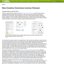 New Creative Commons License Chooser
