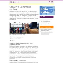 Creative Commons i skolan