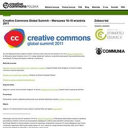 Creative Commons Global Summit – Warszawa 16-18 września 2011