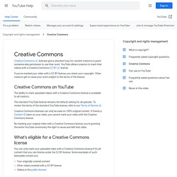 Creative Commons - YouTube Help