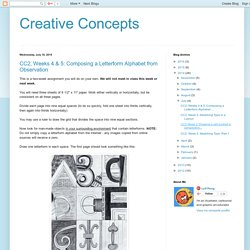 Creative Concepts: July 2014