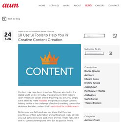10 Useful Tools to Help You in Creative Content Creation