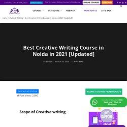 Creative Content Writing Course in Noida