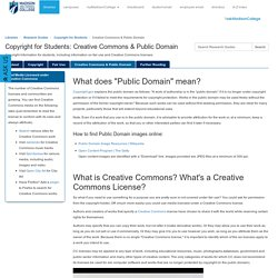 Creative Commons & Public Domain - Copyright for Students - Research Guides at Madison College (Madison Area Technical College)
