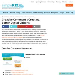 Creative Commons : Creating Better Digital Citizens