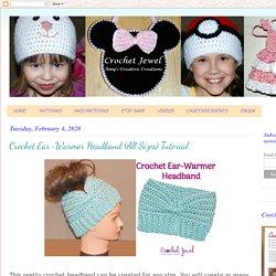 Amy's Crochet Creative Creations: Crochet Ear-Warmer Headband (All Sizes) Tutorial