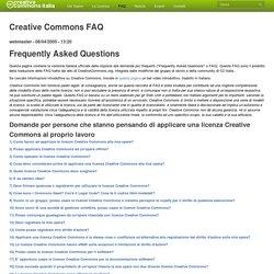 Creative Commons FAQ
