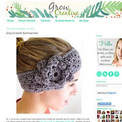 Grey Crochet Earmwarmer